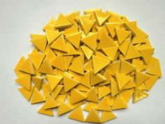 Mosaic Tiles-100 inch Yellow triangle tiles by mosaicmonkey