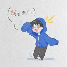 Kpop Fanart, Nct 127, Kawaii Anime, Cute Boys, Kai, Fan Art, Drawings, Heart, Sweet