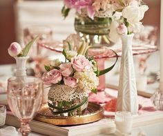 Vintage light pink wedding