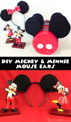 DIY Mickey Mouse Ears - how to make your own Mickey and Minnie Mouse Ears for a Mickey Mouse Birthday Party.