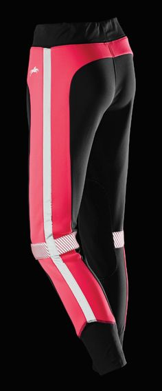 Pull on fluorescent pink breeches with close contact stretch cuffs for added comfort #BeSeenBeSafe