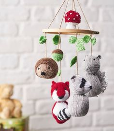 Woodland Tales Animal Mobile Free Knitting Pattern