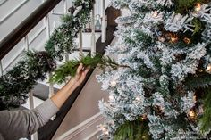 """Spruce"" Up Your Fake Christmas Tree with Real Pine Branches! - Heathered Nest"