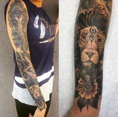 Elephant and lion sleeve by Joseph Haefs