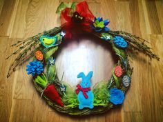 Another Easter wreath with homemade decorations