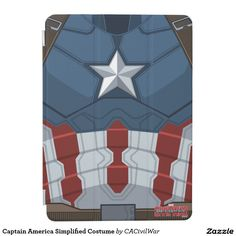 Captain America Simplified Costume iPad Air Cover. Regalos, Gifts. #carcasas #cases