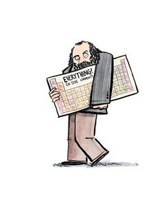 """For so long people have been asking me, """"Josh, when will you give us a drawing of Dmitri Mendeleev, creator of the periodic table? Prints of this (and all my other Science. Chemistry Art, Teaching Chemistry, Katherine Johnson, Mary Johnson, Stephen Jay Gould, Nicolaus Copernicus, Dian Fossey, Michael Faraday, Louis Pasteur"""