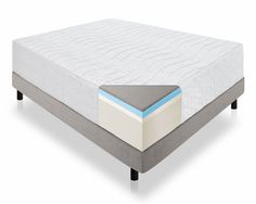Lucid 16 Plush Memory Foam And Latex Mattress Four Layer White
