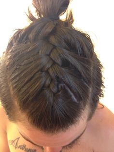 Braided Man Bun
