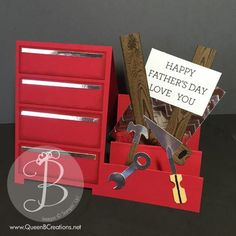 http://stampinpretty.com/2015/06/lisas-tool-time-fathers-day-card.htmlHappy… Father's Day! Lovin' this chest of tools by Lisa Ann Bernard.