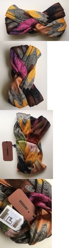 Hair Accessories 45220: Nwt Gorgeous Missoni Mare Multicolor Zig-Zag Knit Beach Turban Headband 1 Sz -> BUY IT NOW ONLY: $145 on eBay!