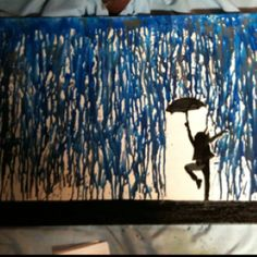 2nd crayon art, crafty Christmas present #2.