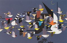 'Mystery of the Missing Migrants' by Charley Harper