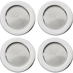 """Set of 4 Stainless Steel 13"""" Chargers in Buffet, Charger Plates 
