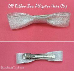 DIY Bow Hair Clip
