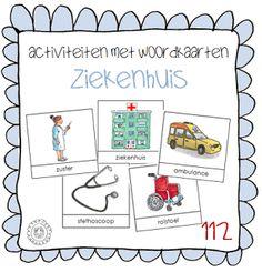 Kleuterjuf in een kleuterklas: Activiteiten met woordkaarten | Thema 112 ZIEKENHUIS