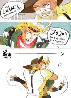 JJBA; Older! Joseph + Caesar