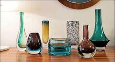 Verrerie années 60  Holmegaard, Murano, Kosta, Riihimaki, Hyllinge Glas Vevey, Vintage Design, Wine Decanter, Barware, Boutique, Corning Glass, Wine Carafe, Boutiques, Tumbler