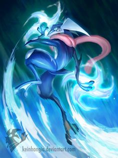 Greninja - Froakie  final evolution by KeiNhanGia