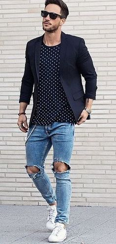 19 Coolest Casual Street Style Looks For Men Mens Fashion Blog, Best Mens Fashion, Men's Fashion, Fashion Outfits, Fashion Trends, Fashion Styles, Street Fashion, Best Casual Wear For Men, Men Casual