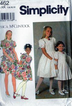 Girls Party dress Jessica McClintock  uncut sewing pattern size 7 8 10 12