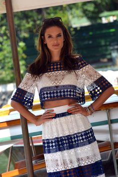 Alessanda Ambrosio arriving at the Excelsior Hotel on September 02, 2015 in Venice, Italy
