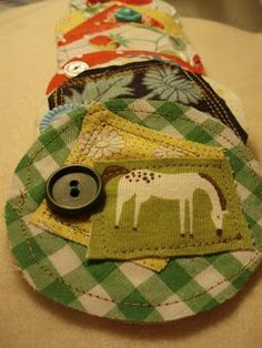 Vintage Button and Fabric Scraps Brooch Tutorial Tutorial From Chasity Gordon of BelleSouth and Belle & Burger Blog