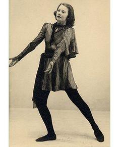 Audrey Hepburn during a dance recital in Arnhem, Holland, 1944