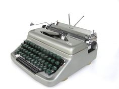 Silvery gray typewriter great working condition Royal Diana Netherlands Holland retro writer home fecor office decor on Etsy, $207.92 AUD