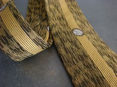 Vintage Mens Skinny Necktie by Rhynecliffe Mustard by retrocorrect
