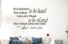 Wall Vinyl Decals Quote Decal It is better to be by WisdomDecals