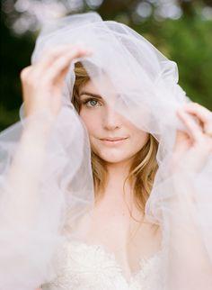 bridal portrait, photo by Faith Teasley http://ruffledblog.com/bloomsbury-farm-wedding-inspiration #weddingveil #veils #brides