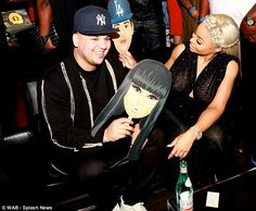 Plenty to smile about: Both Rob and Blac Chyna seemed in high spirits at the event, which was their first red carpet appearance since announcing they are expecting their first child together