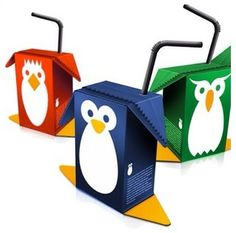 Penguin juice boxes