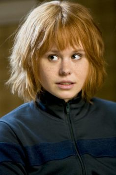 Alison Pill as Kim in Scott Pilgrim vs. the World....so funny. Her character is such a badass/smartass, and it's totally awesome