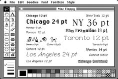 The fonts that shipped with the original Mac. Revolutionary.