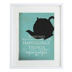 Wonderland 'Impossible things' print - hardtofind.