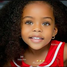 French and African American - 5 years old - Beautiful baby girl