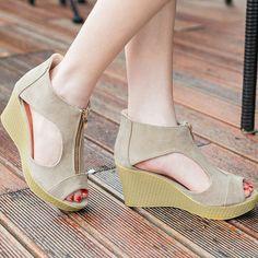 762771e3dd5f Cheap peep toe platform wedges