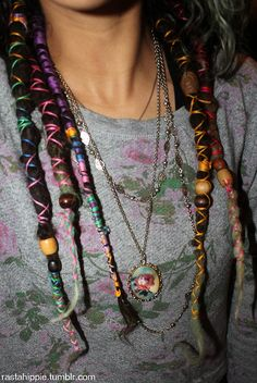 Like the thread wrapping, not a fan of wooden beads - too crafty looking.