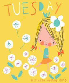 Happy Dienstag mit Lizzie Mackay.