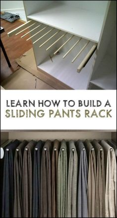Learn How to Build a Slide-Out Pants Rack