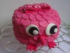 gâteau hiboux catherine G  cake owl