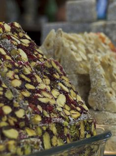 lokum-- pistanbul in pomegranate juice <3  Istanbul Food: Turkish Delight by kunitsa, via Flickr