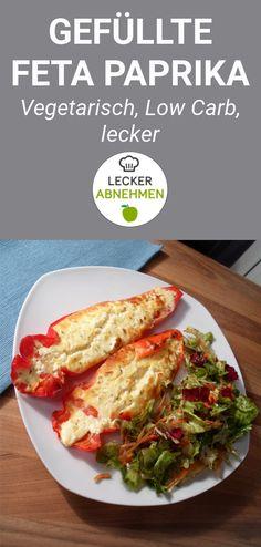 Ein leckeres Low Carb Rezept für gefüllte Feta Paprika. Dieses gesunde Gericht eignet sich perfekt als Mittag- oder Abendessen und kann auch in die Arbeit mitgenommen werden (Meal Prep).