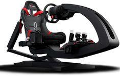 ImSim - motion simulator for racing and flight Gaming Room Setup, Gaming Chair, Gamer Setup, Game Room Chairs, Racing Simulator, Shabby Chic Table And Chairs, Custom Pc, Racing Seats, Papasan Chair