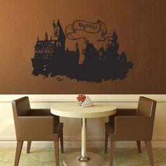 Hogwarts Castle  Harry Potter  Vinyl by WallsOfText on Etsy, $37.95