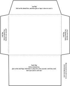 envelope template | Envelope Template For 8.5 X 11 Paper Diy ...