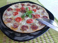 Serpenyős pizza (szénhidrátszegény-gluténmentes-élesztőmentes-tejmentes recept) ~ Éhezésmentes Karcsúság Szafival