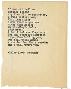 Tyler Knott Gregson typewriter series 1021